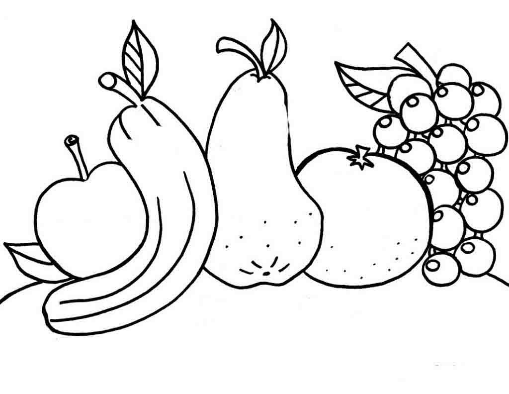 Картинки для раскраски фрукты